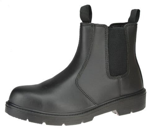 ET Safety I0020 Black Leather Steel Toecap Midsole SBP Dealer safety chelsea Boots